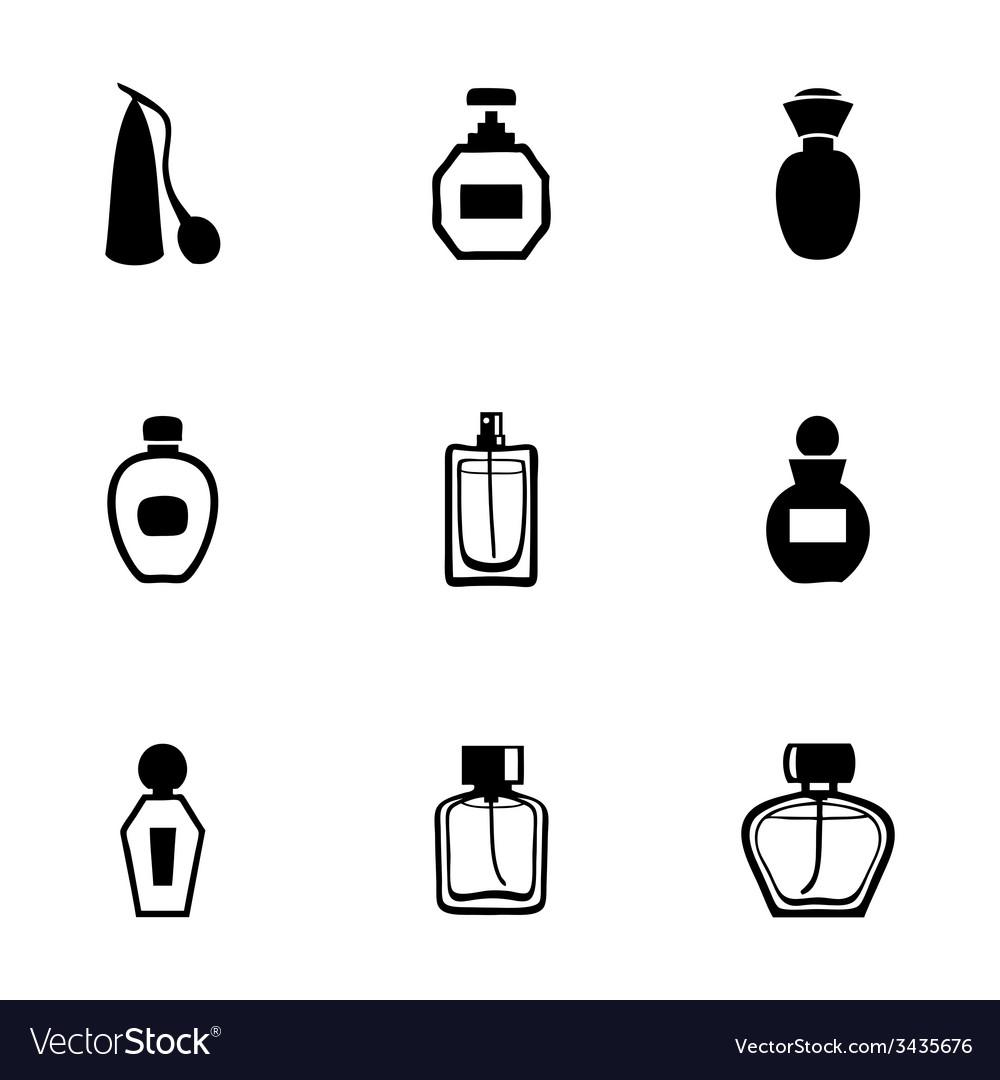 Perfume icon set vector | Price: 1 Credit (USD $1)