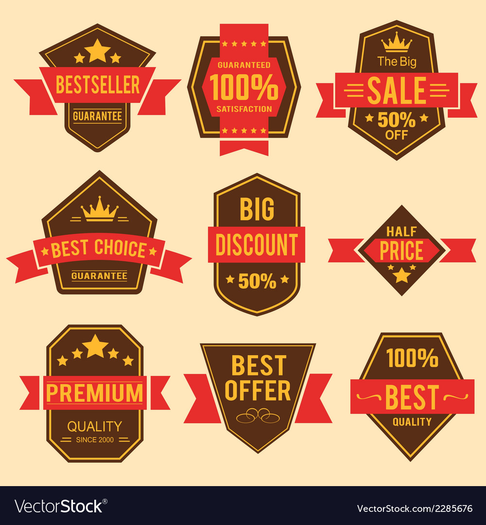 Retro badges vector | Price: 1 Credit (USD $1)