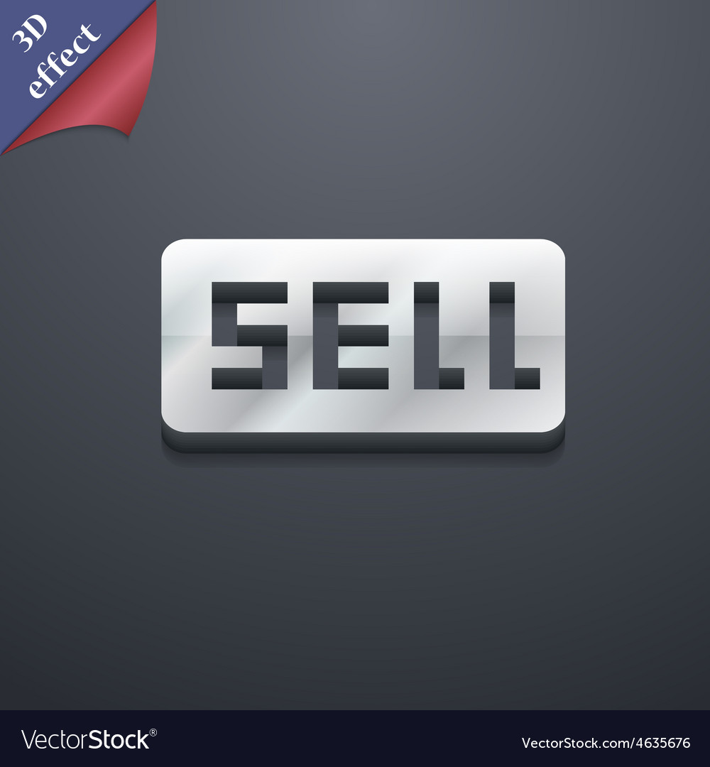 Sell contributor earnings icon symbol 3d style vector | Price: 1 Credit (USD $1)