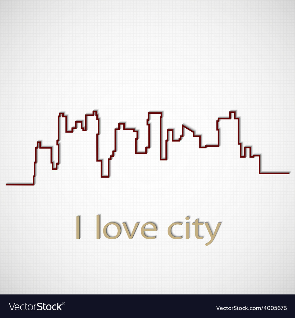 Silhouette city vector | Price: 1 Credit (USD $1)