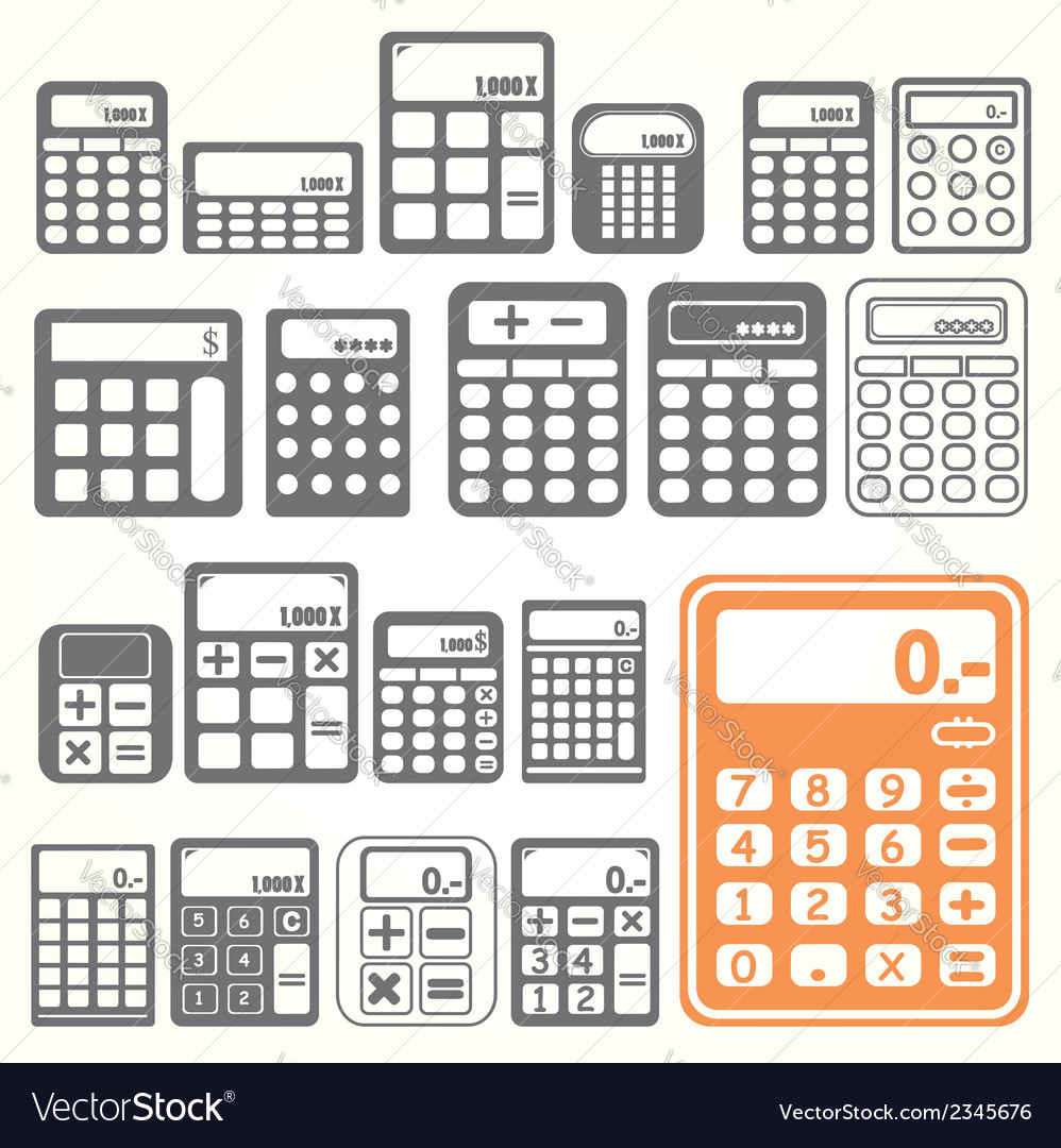 Tools calculator icons set vector | Price: 1 Credit (USD $1)