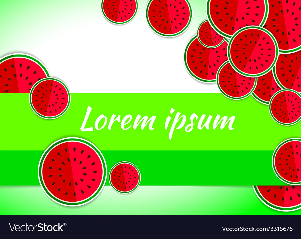Watermelon red green template vector | Price: 1 Credit (USD $1)