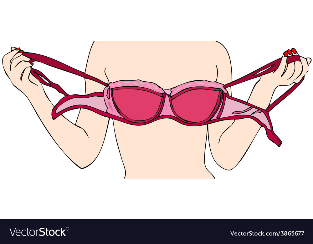 A woman while she removes her bra vector | Price: 1 Credit (USD $1)