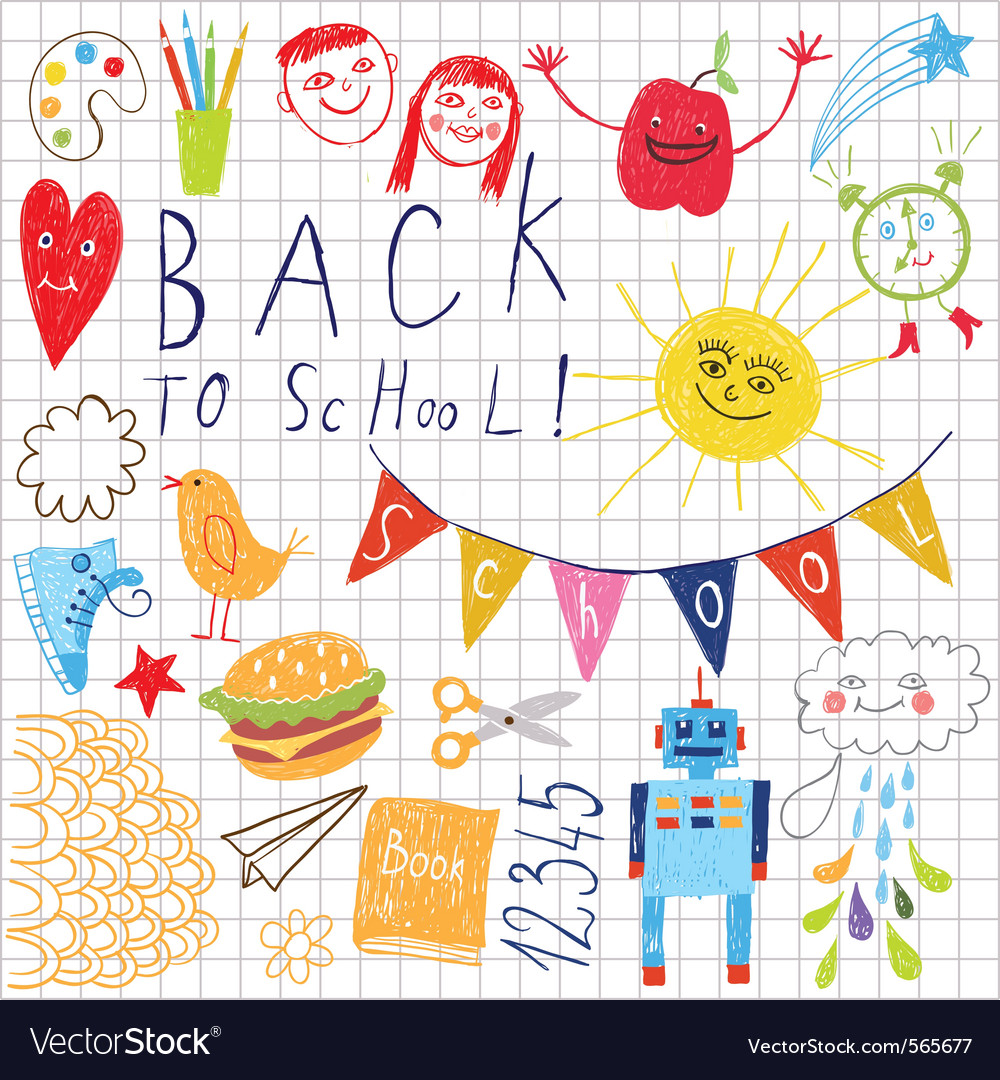 Back to school pattern vector | Price: 1 Credit (USD $1)