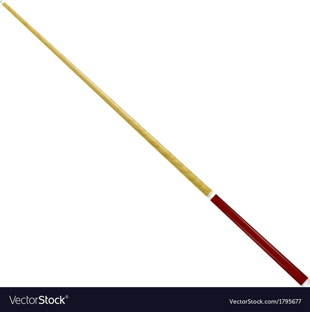 Billiard cue on a white background vector | Price: 1 Credit (USD $1)