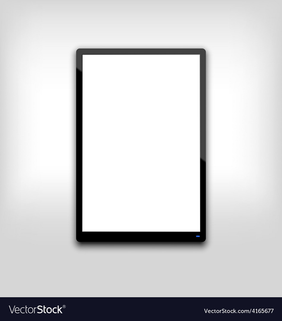 Black tablet pc computer blank white screen with l vector | Price: 1 Credit (USD $1)