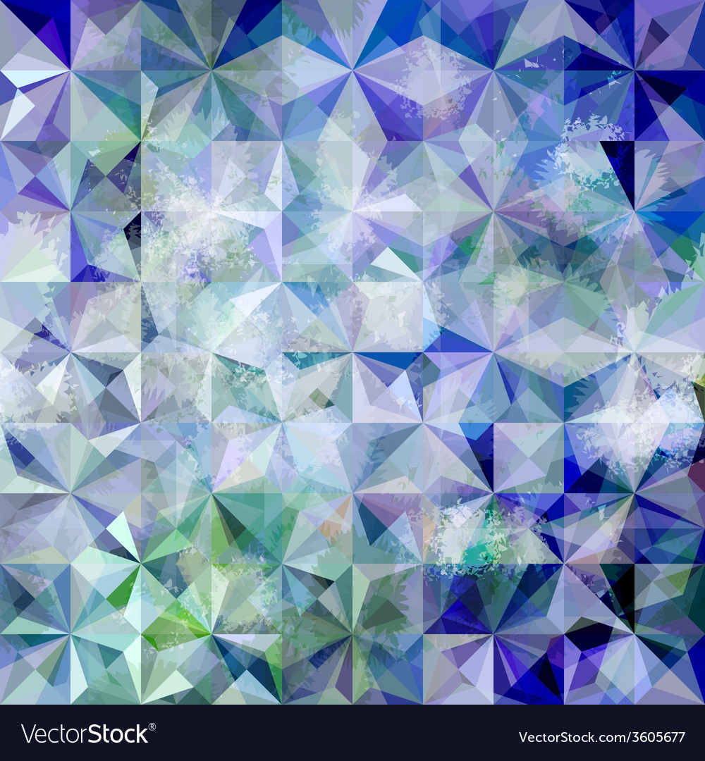 Colorful abstract geometric blue grunge pattern vector | Price: 1 Credit (USD $1)