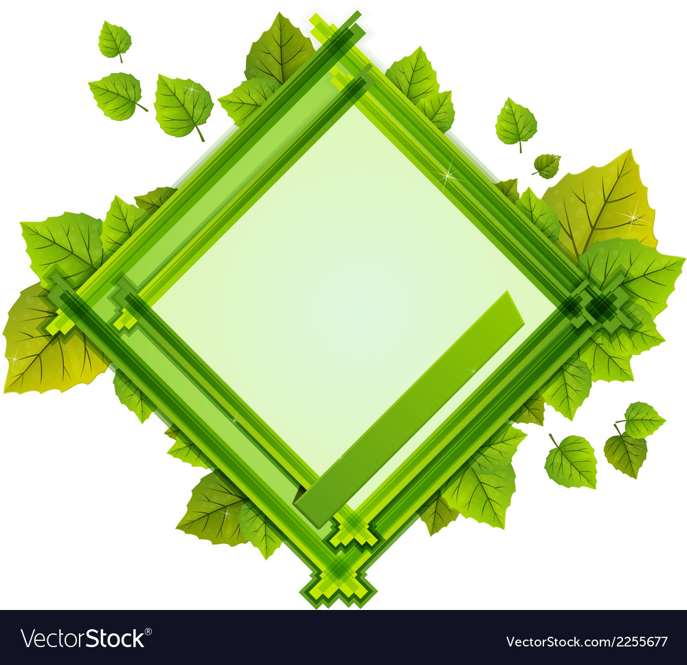 Frame with the composition of foliage number one vector | Price: 1 Credit (USD $1)