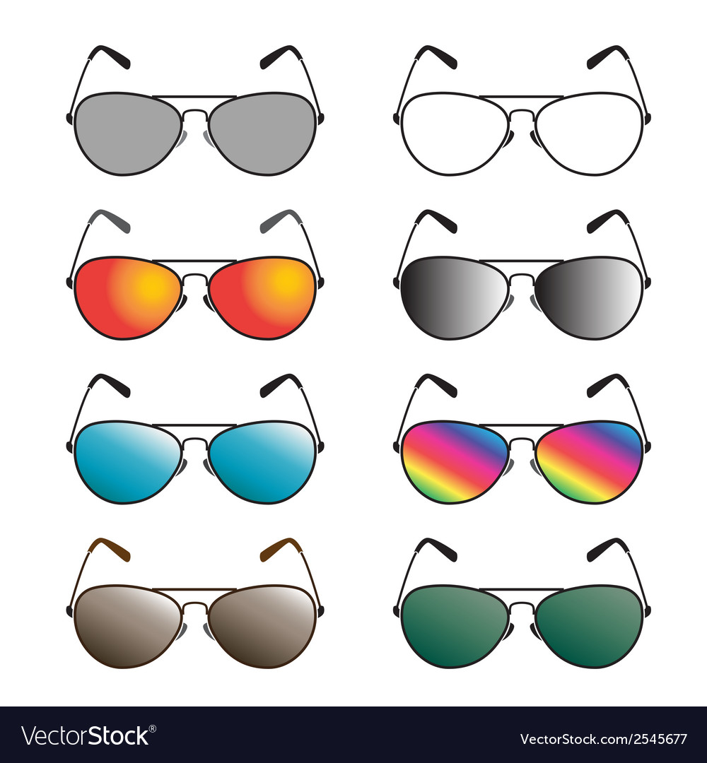Group of an sunglasses vector | Price: 1 Credit (USD $1)