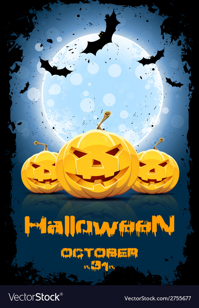 Grungy background for halloween party vector | Price: 1 Credit (USD $1)