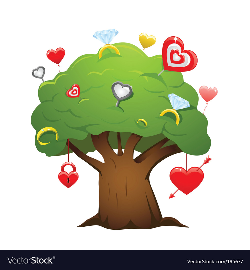 Love tree vector | Price: 3 Credit (USD $3)