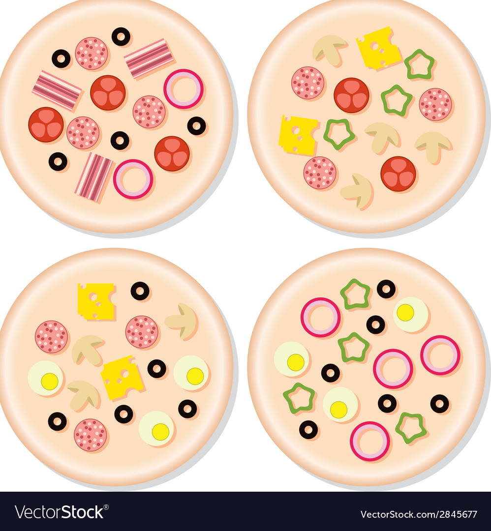 Pizza collection vector | Price: 1 Credit (USD $1)