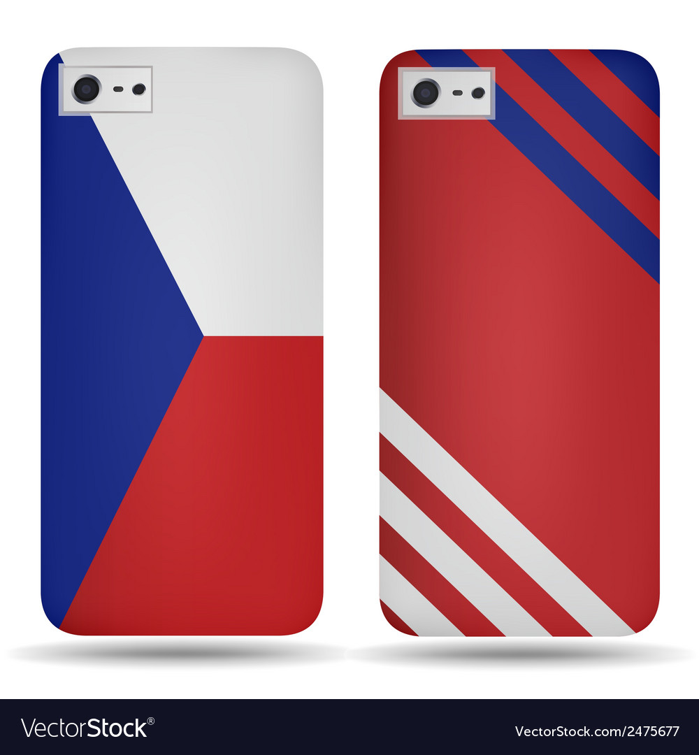 Rear covers smartphone with flags of czech republi vector | Price: 1 Credit (USD $1)