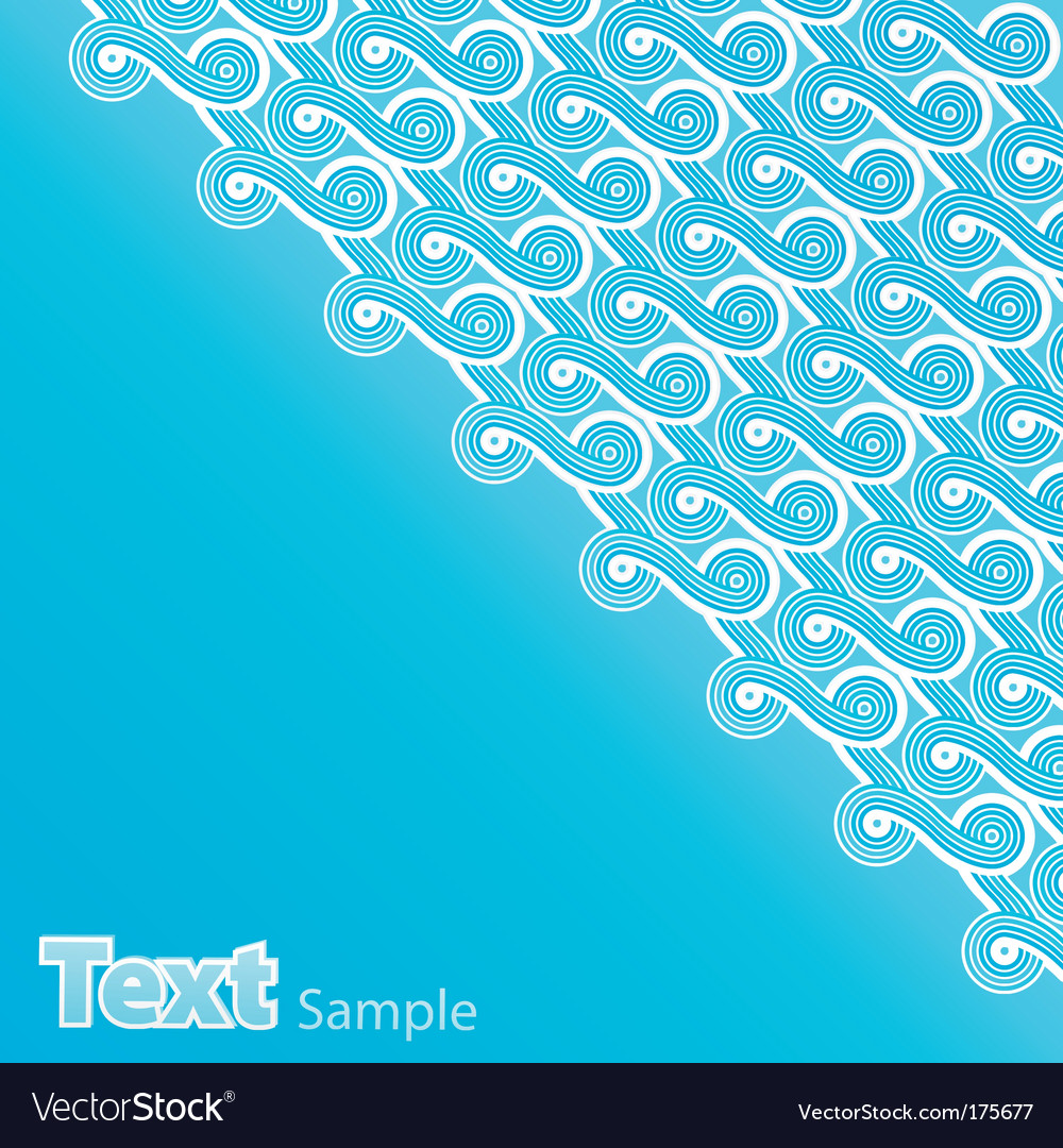 Summer blue waves abstract vector | Price: 1 Credit (USD $1)