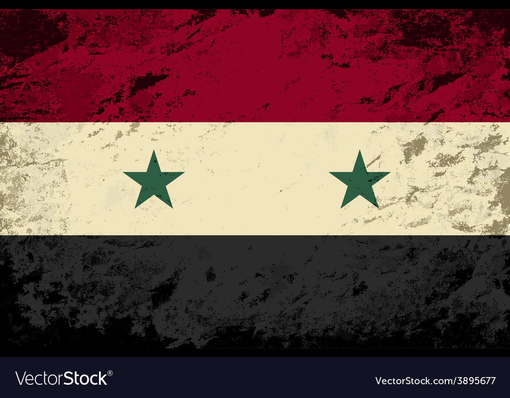 Syrian flag grunge background vector | Price: 1 Credit (USD $1)