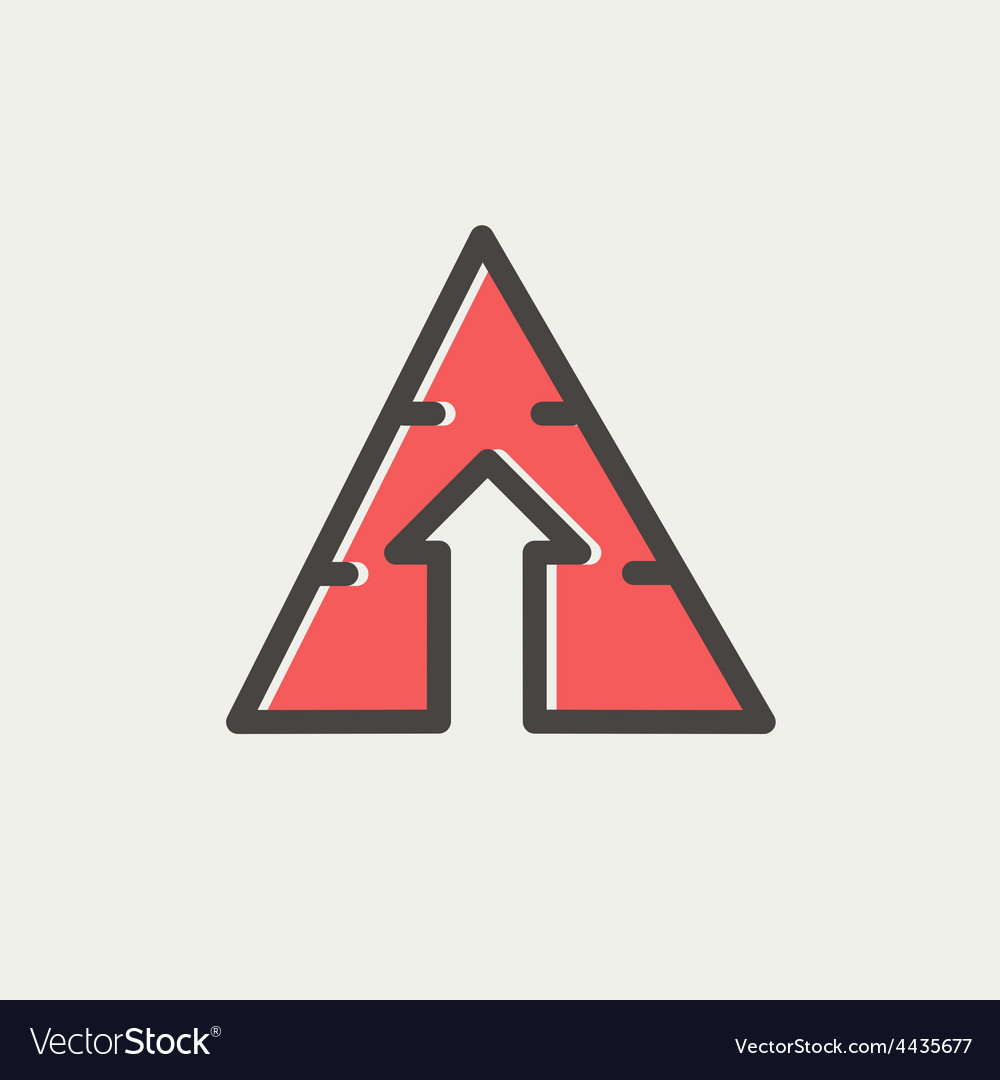 Triangle arrow up thin line icon vector   Price: 1 Credit (USD $1)