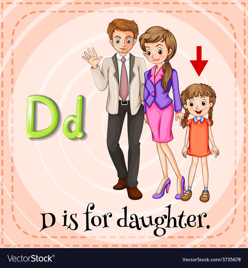 A letter d vector | Price: 1 Credit (USD $1)