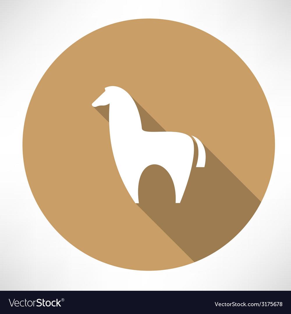 Alpaca icon vector | Price: 1 Credit (USD $1)