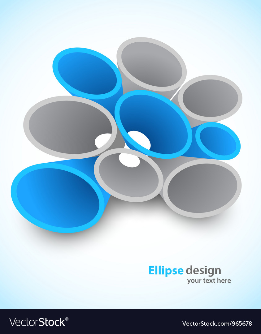 Background with 3d ellipse vector | Price: 1 Credit (USD $1)