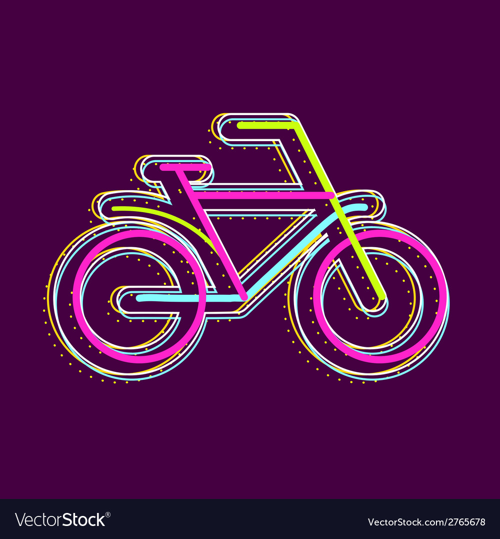Bicycle on a dark background vector | Price: 1 Credit (USD $1)