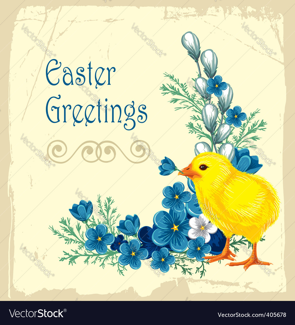 Easter vintage background vector | Price: 1 Credit (USD $1)