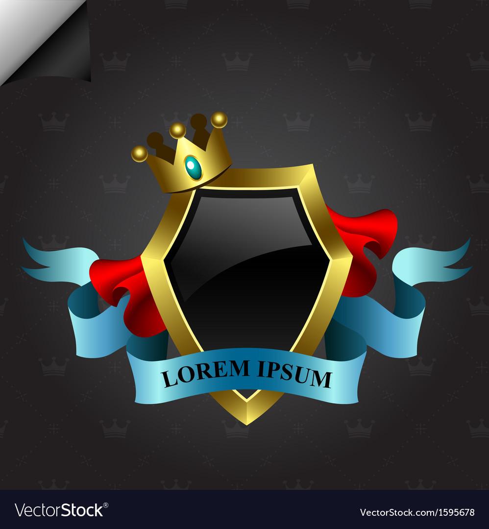 Golden shield design vector | Price: 1 Credit (USD $1)