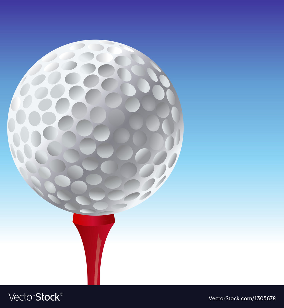 Golf tee vector | Price: 1 Credit (USD $1)