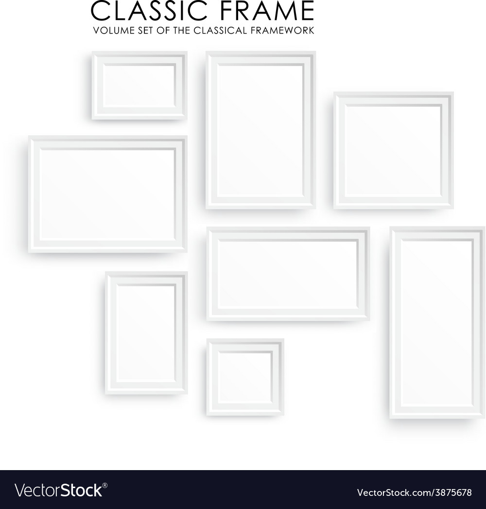Realistic picture frames perfect for your vector | Price: 1 Credit (USD $1)