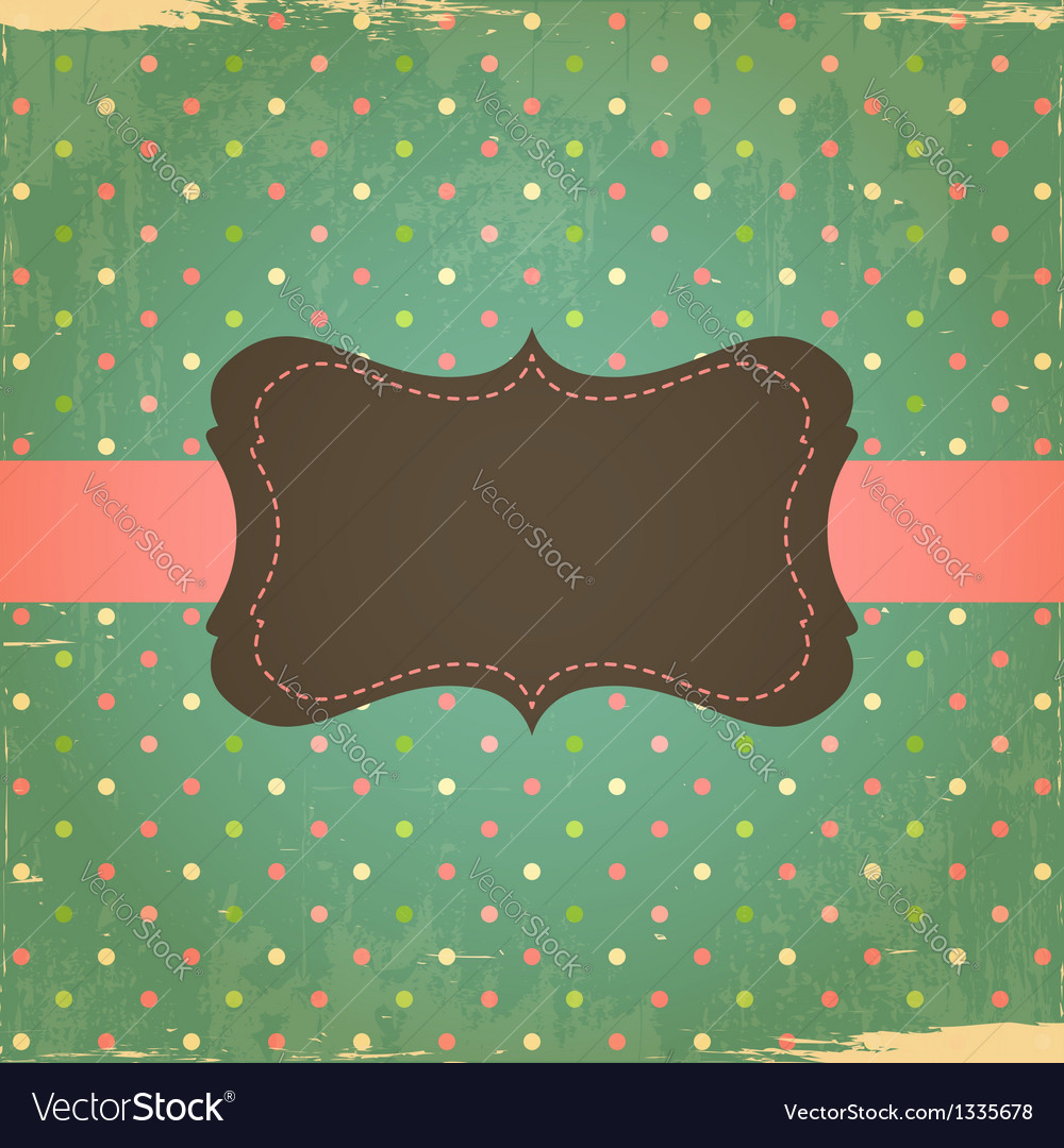 Retro grunge polka dot background vector | Price: 1 Credit (USD $1)