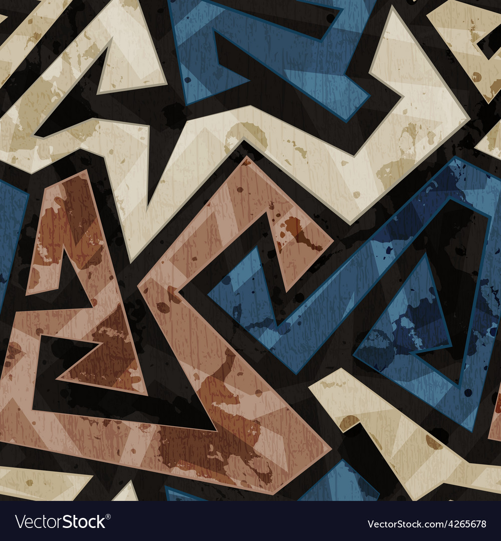 Urban graffiti seamless texture with grunge effect vector | Price: 1 Credit (USD $1)