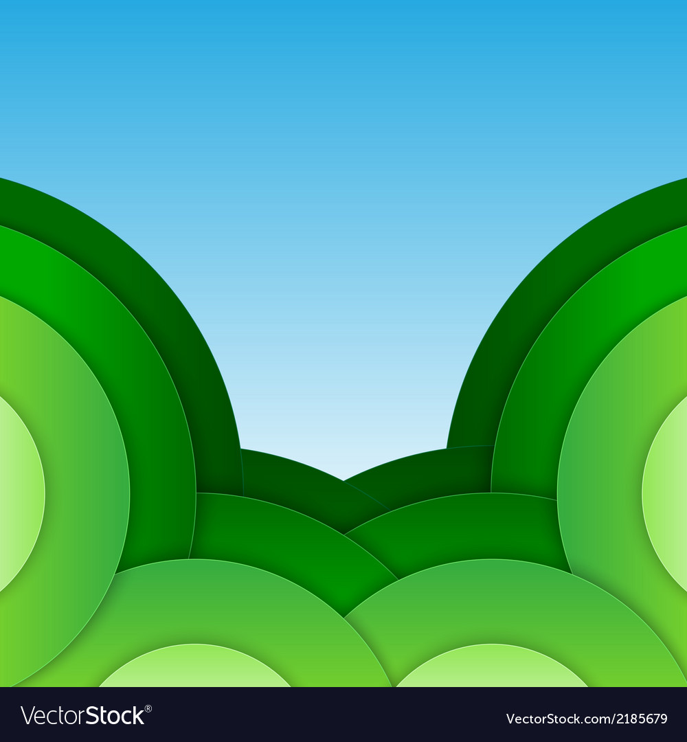 Abstract green paper circles background vector | Price: 1 Credit (USD $1)