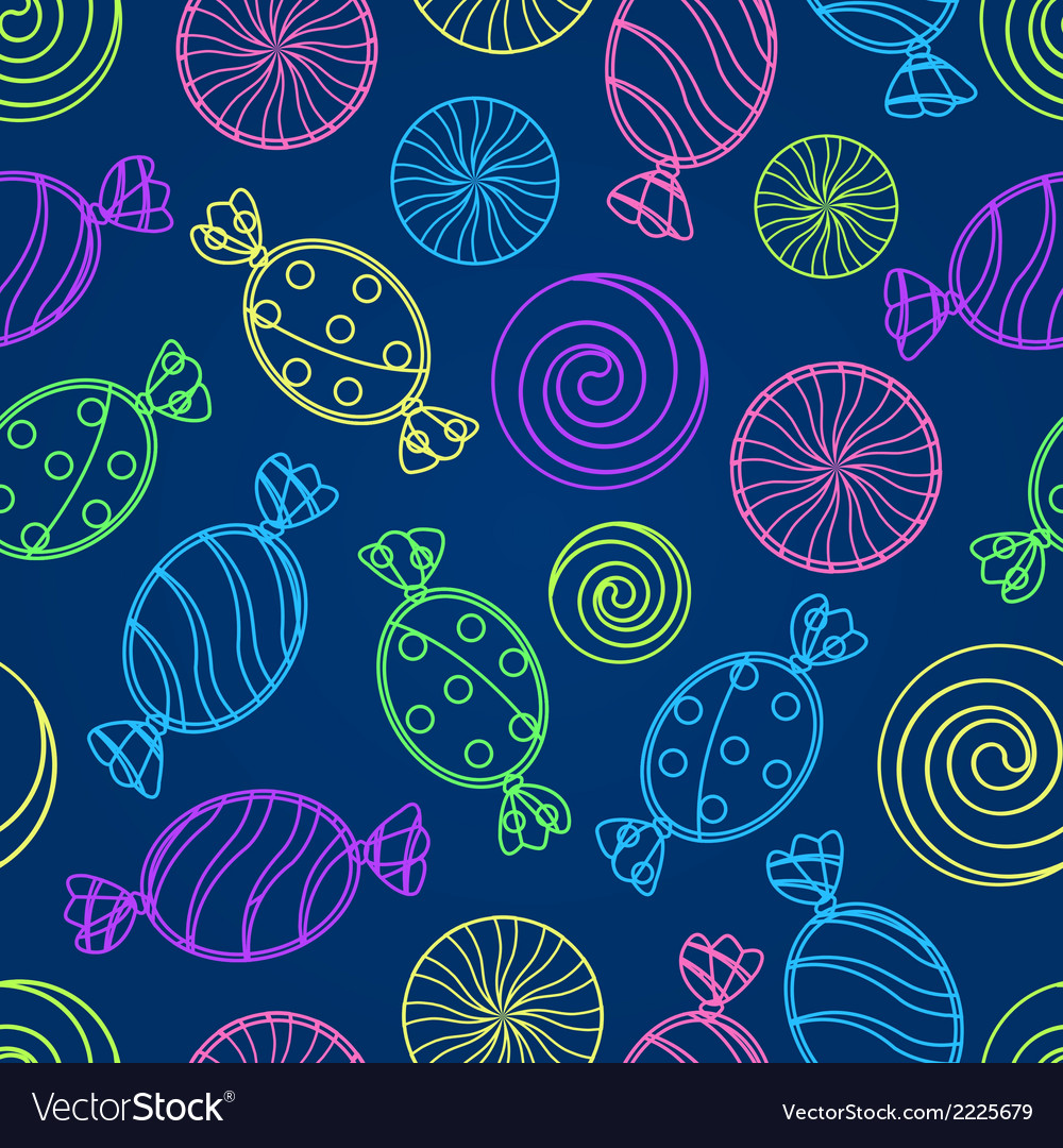 Candy silholuette seamless pattern vector | Price: 1 Credit (USD $1)