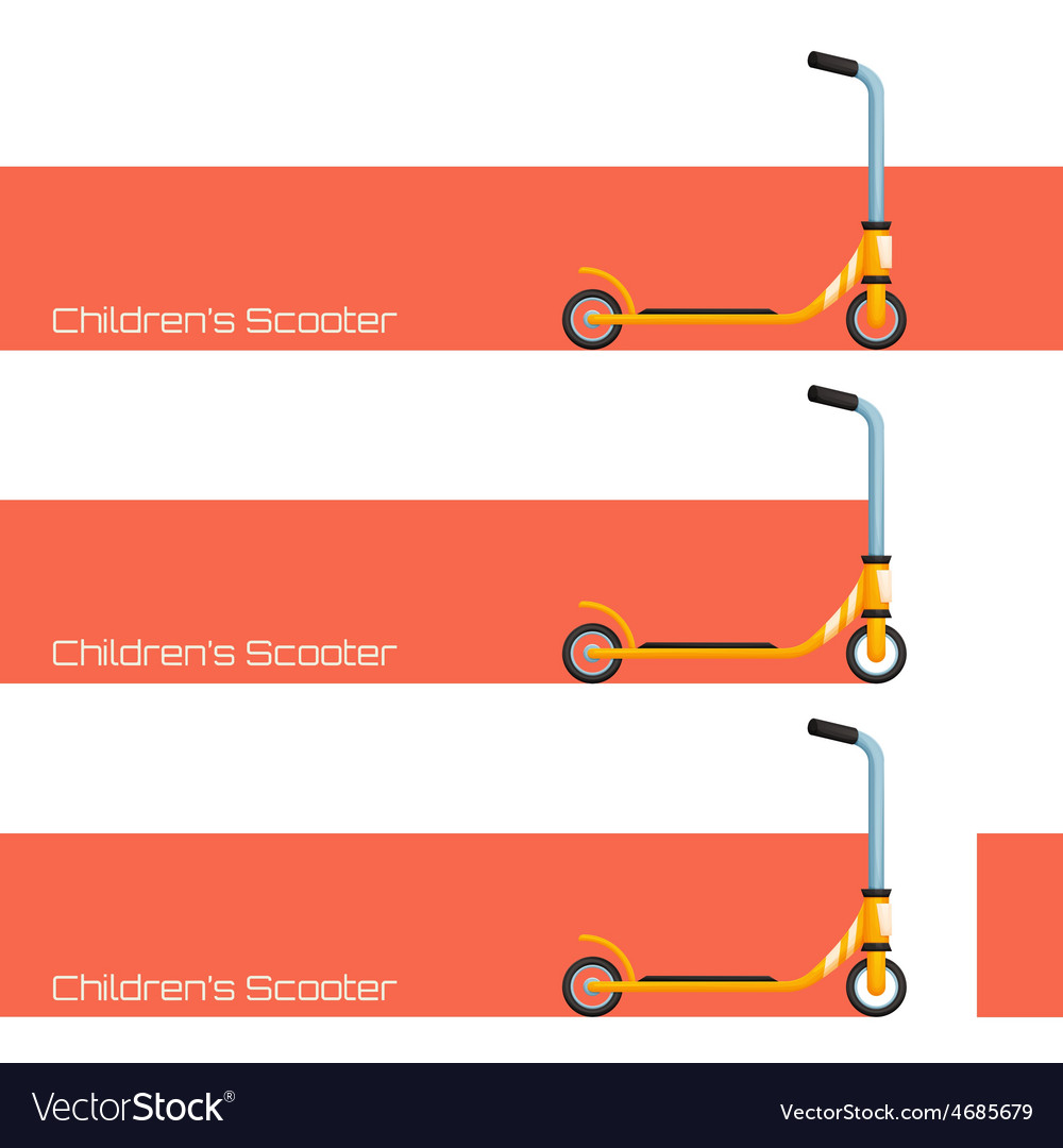 Childrens scooter two vector