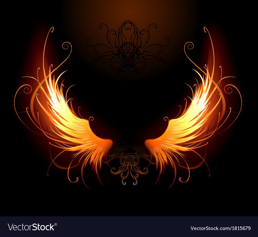 Fiery wings vector | Price: 1 Credit (USD $1)