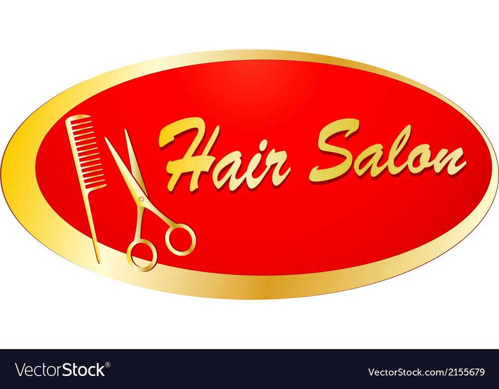 Golden signboard for barbershop vector | Price: 1 Credit (USD $1)