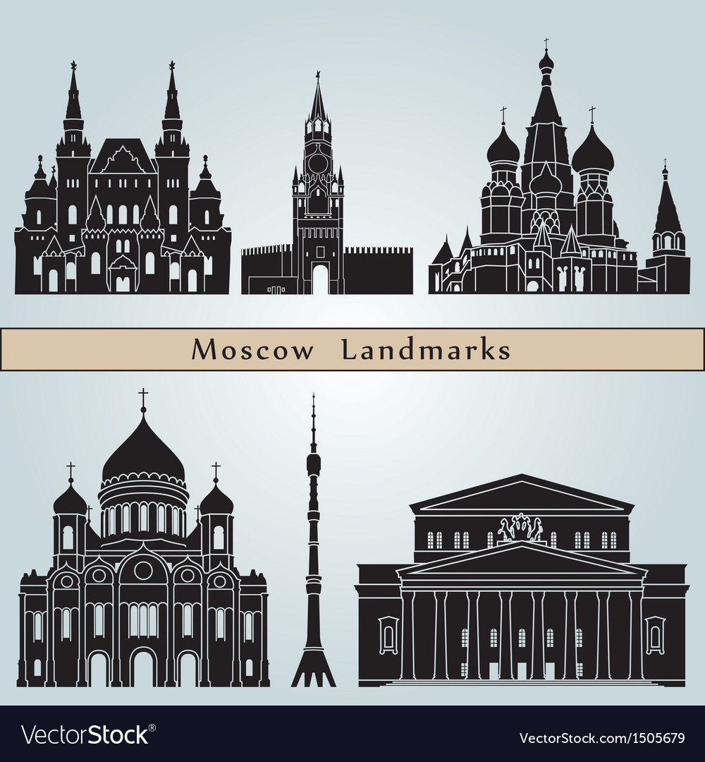 Moscow landmarks and monuments vector | Price: 3 Credit (USD $3)
