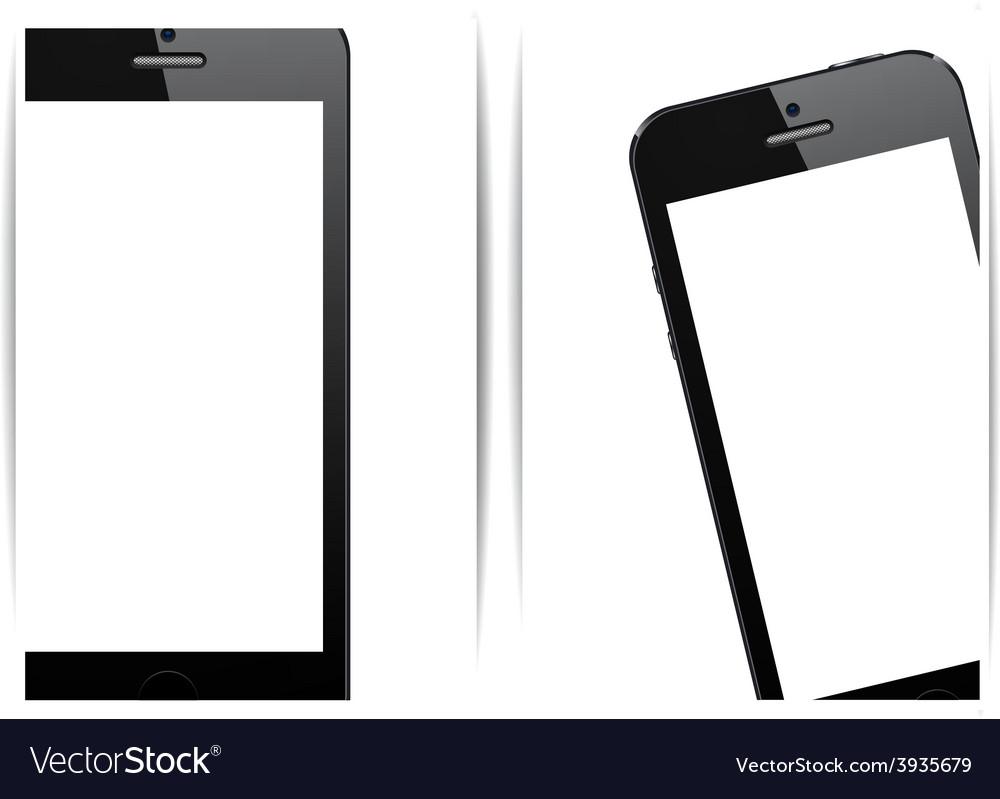 Realistic black smartphone background vector | Price: 1 Credit (USD $1)
