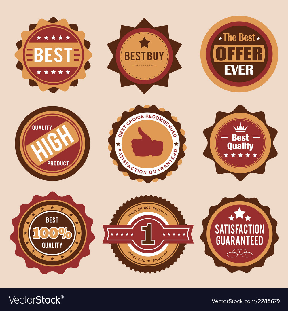 Sale retro badges vector | Price: 1 Credit (USD $1)
