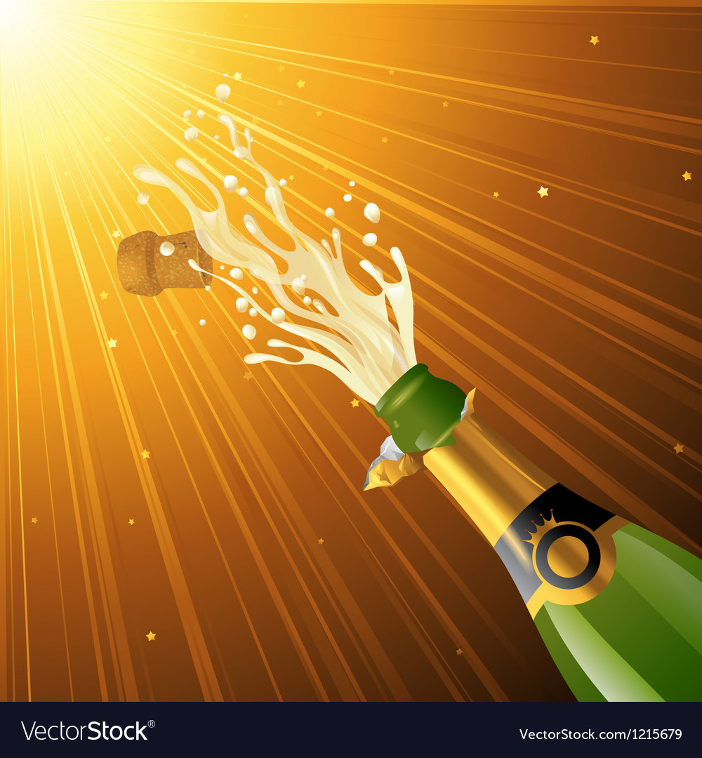 Splashing champagne vector | Price: 1 Credit (USD $1)