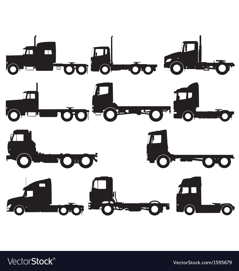 Truck silhouettes vector | Price: 1 Credit (USD $1)