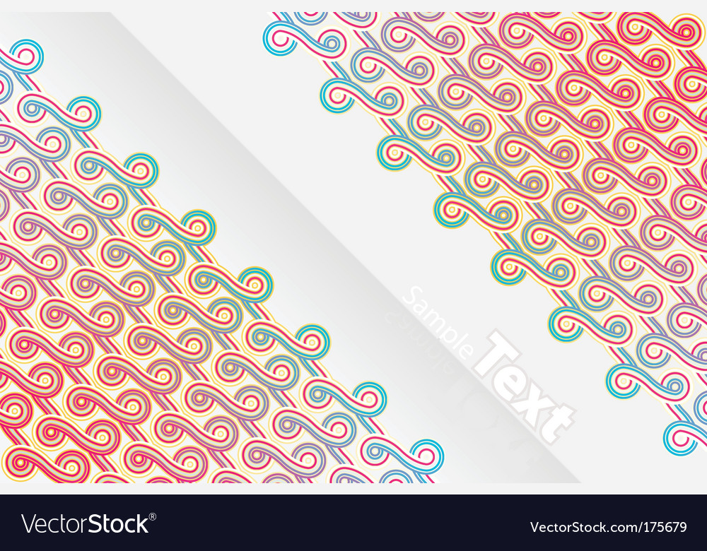 Vertical abstract ribbons design vector | Price: 1 Credit (USD $1)