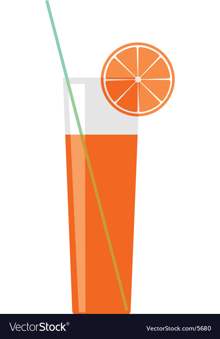 Citron juice in a glass vector | Price: 1 Credit (USD $1)