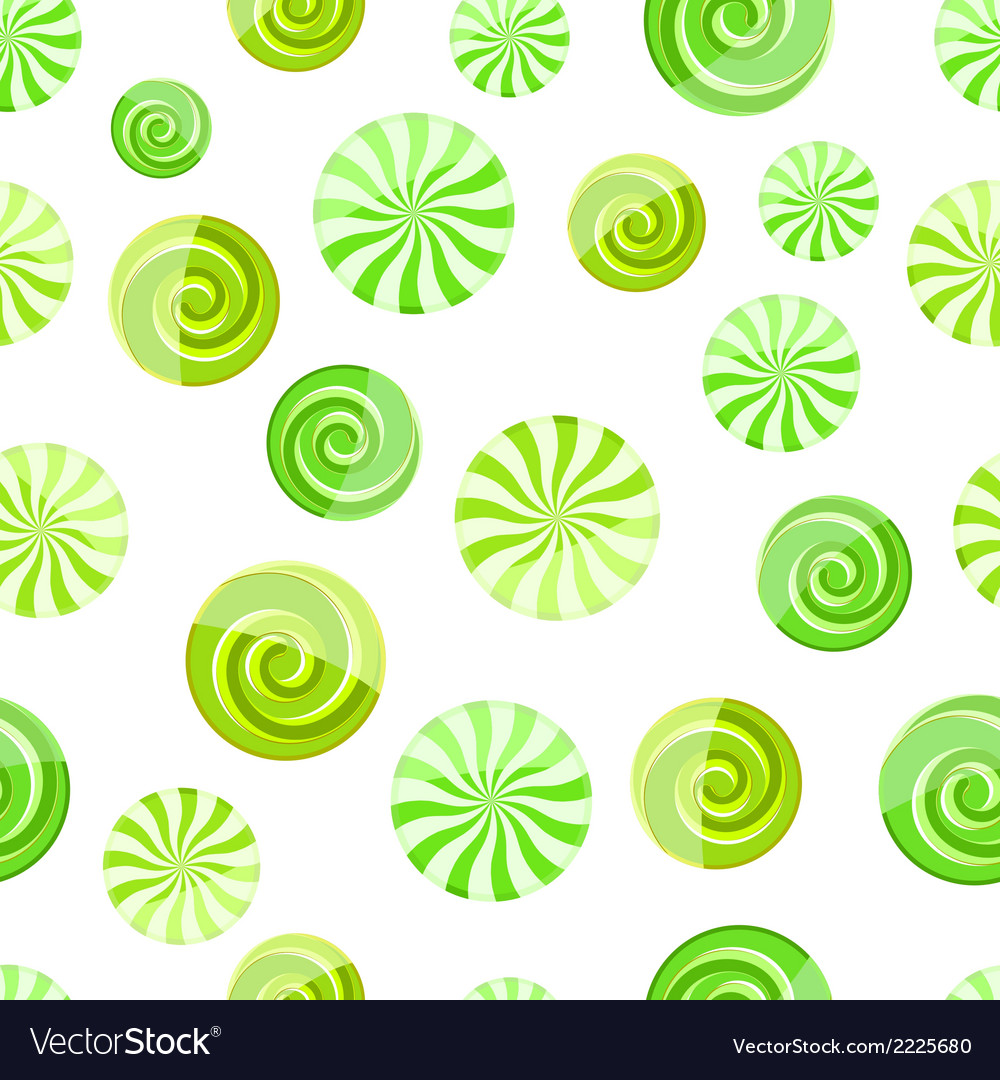 Green mint striped candy seamless pattern vector | Price: 1 Credit (USD $1)