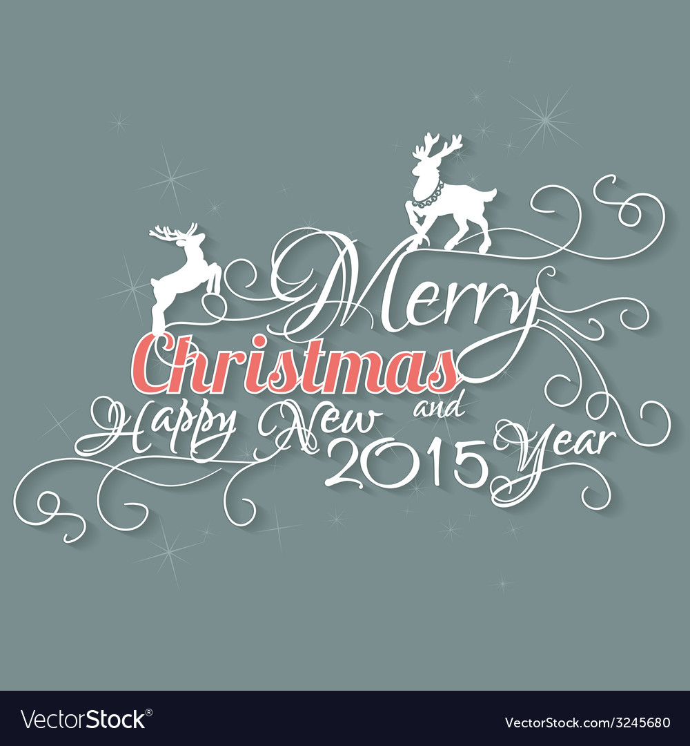 Merry christmas and happy new 2015 year vector | Price: 1 Credit (USD $1)