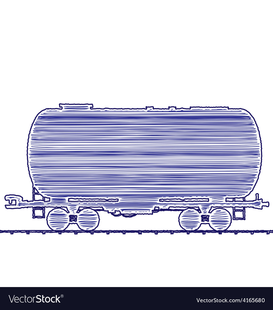 Petroleum cistern wagon freight railroad train han vector | Price: 1 Credit (USD $1)