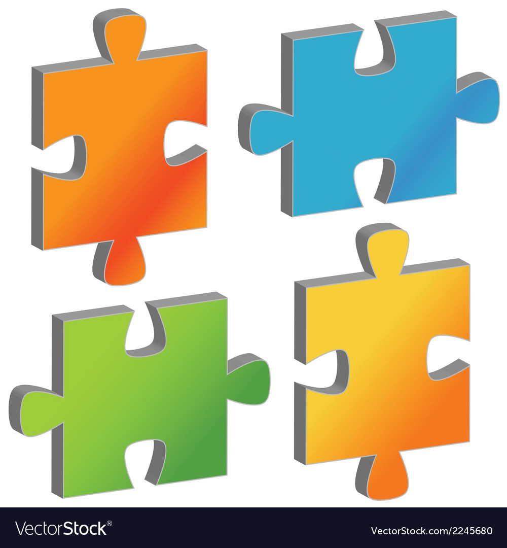 Set of puzzles vector | Price: 1 Credit (USD $1)