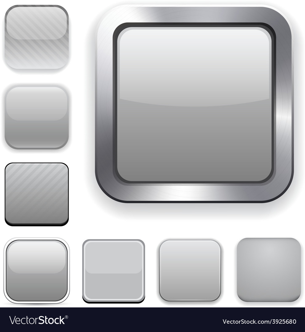 Square grey app icons vector | Price: 1 Credit (USD $1)