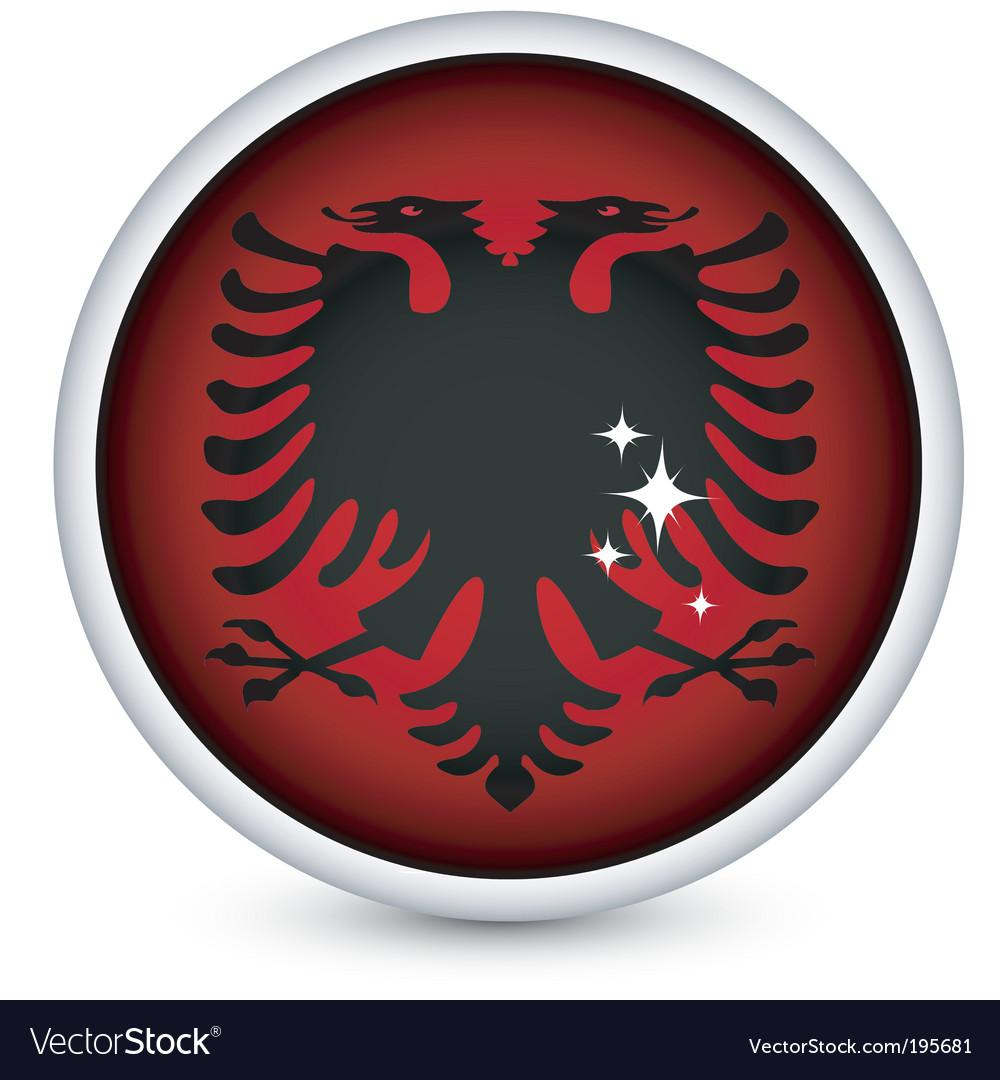 Albania flag button vector | Price: 1 Credit (USD $1)