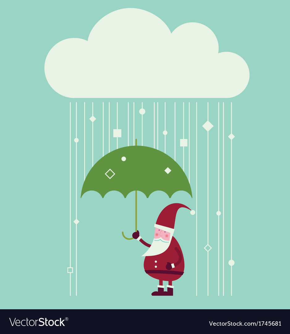 Cloud christmas vector | Price: 1 Credit (USD $1)