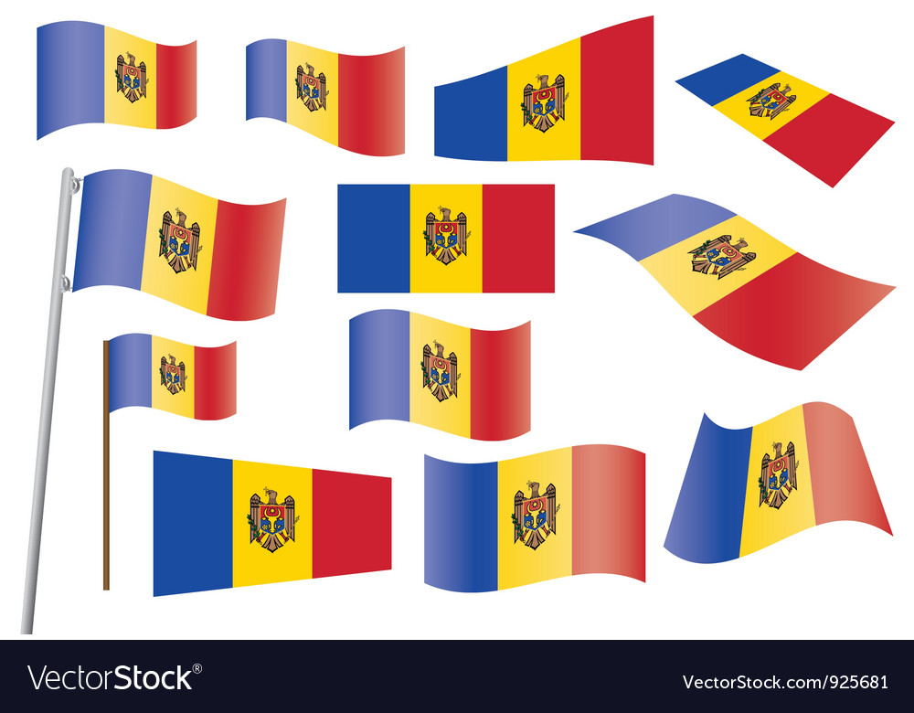 Flag of moldova vector | Price: 1 Credit (USD $1)